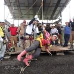 安全帯で墜落が止まった状態-3:特別教育実技訓練